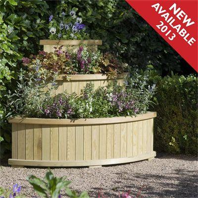 how to make a curved planter box