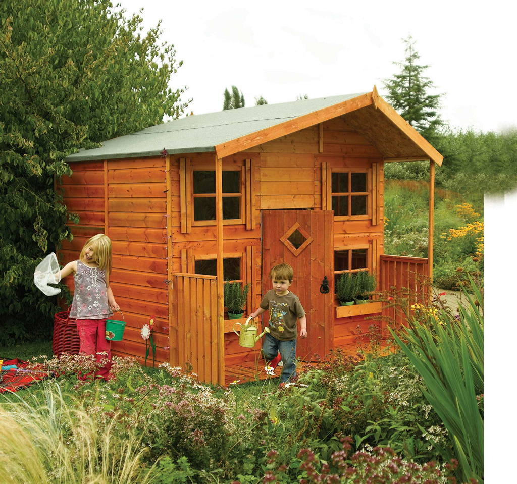 Rowlinson Hideaway House Kids Play House Childrens Garden Play House