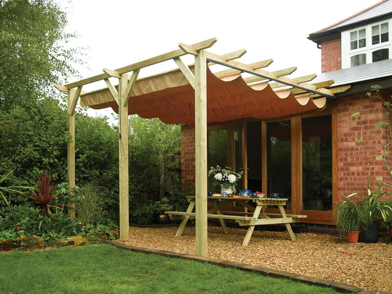 & Sun Canopy - Wall Mounted - Natural Finish