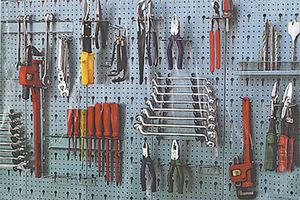 Workshop Tool Storage Rack Steel